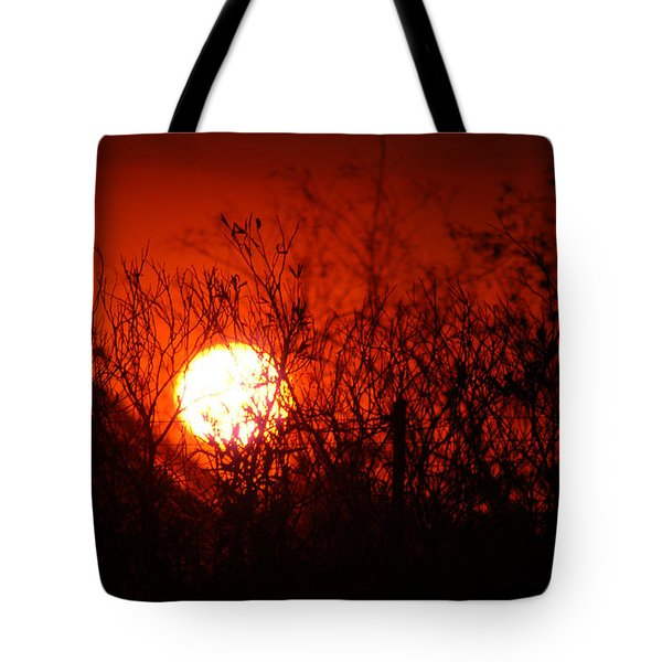 Tote Bag featuring the photograph Redorange Sunset by Matt Harang