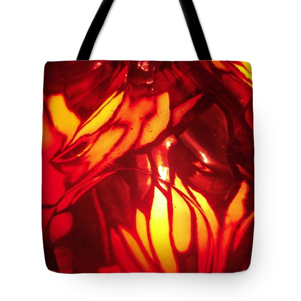 Reds Stained Glass Tote Bag