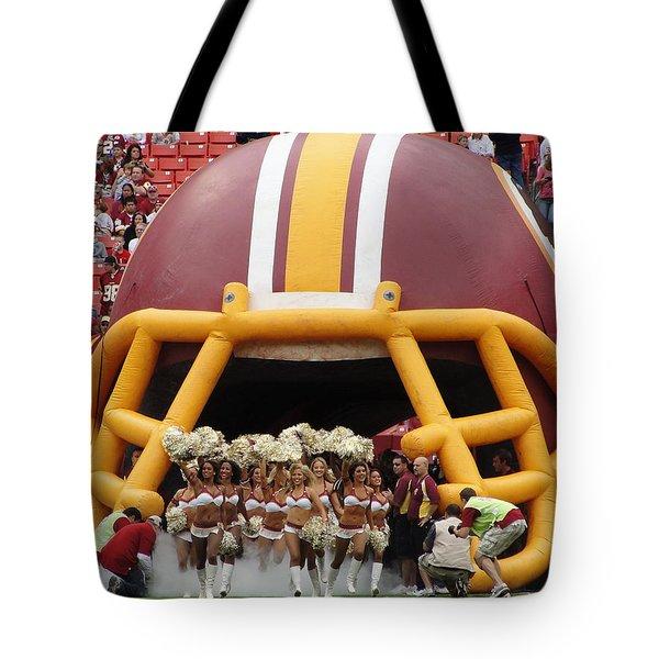 Redskins Cheerleaders Tote Bag