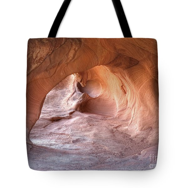 Tote Bag featuring the photograph Redstone Dune Cave by Martin Konopacki