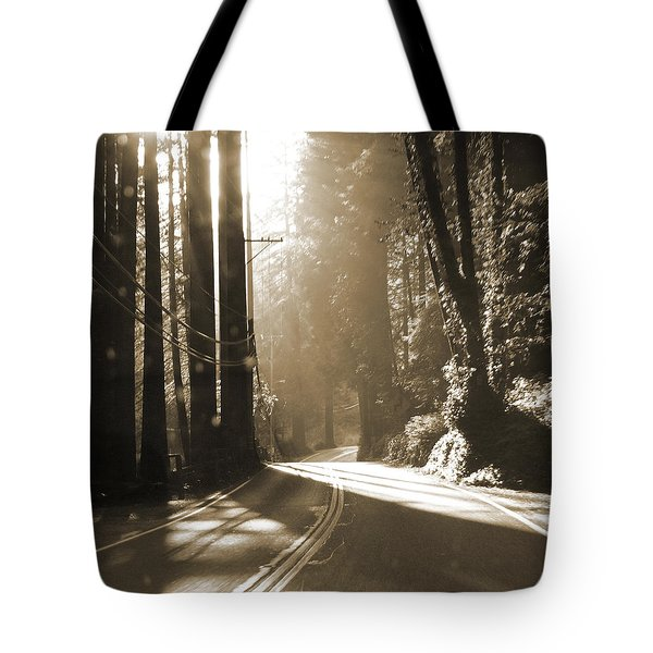 Redwood Drive Tote Bag by Mike McGlothlen