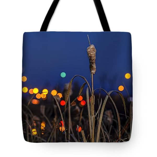 Reed At Twilight Tote Bag