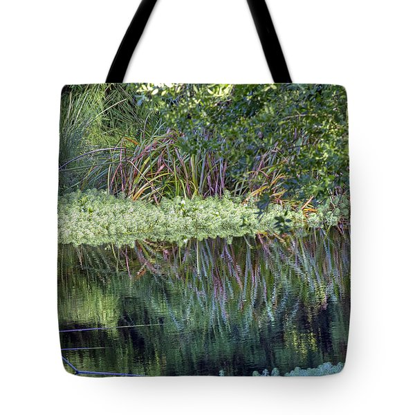 Tote Bag featuring the photograph Reed Reflections by Kate Brown