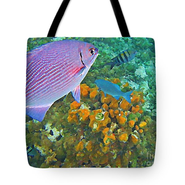 Reef Life Tote Bag by John Malone