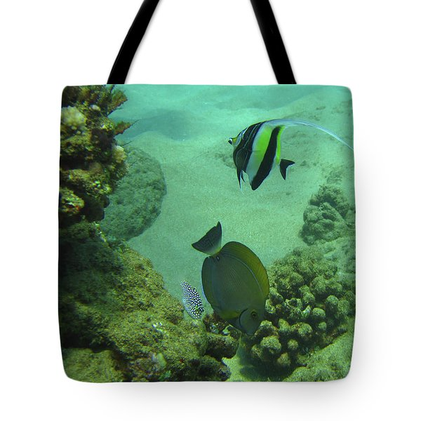 Tote Bag featuring the photograph Reef Life by Suzette Kallen