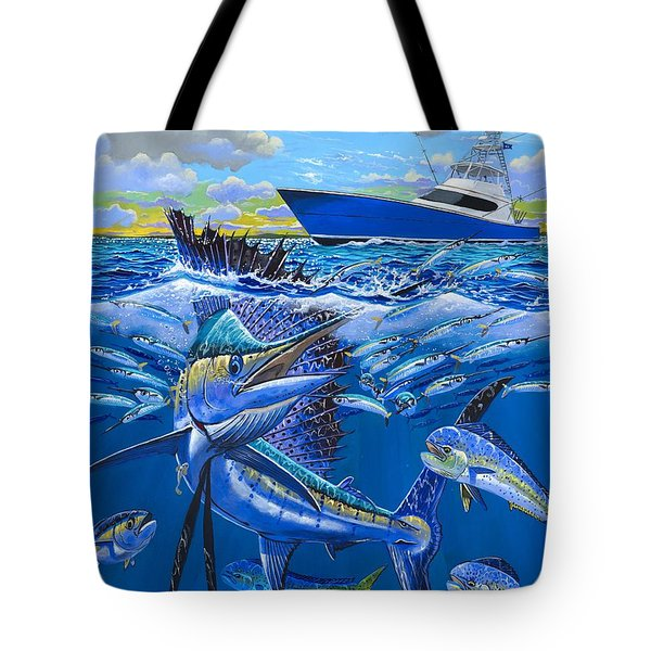 Reef Sail Off00151 Tote Bag by Carey Chen