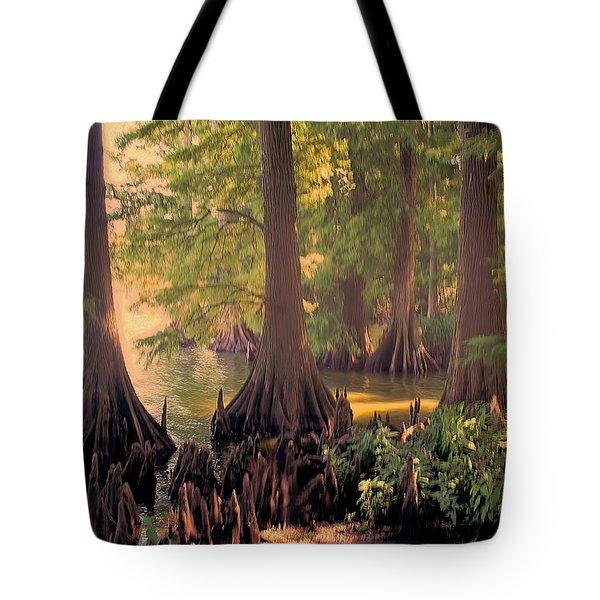Reelfoot Lake At Sunset Tote Bag by Bonnie Willis