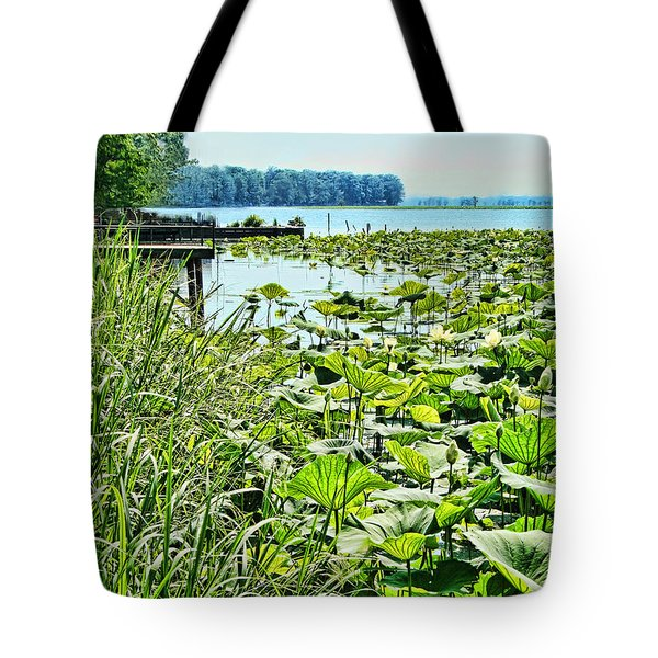 Reelfoot Lake Lilly Pads Tote Bag by Bonnie Willis