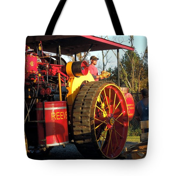 Tote Bag featuring the photograph Reeves Steam Tractor by Pete Trenholm