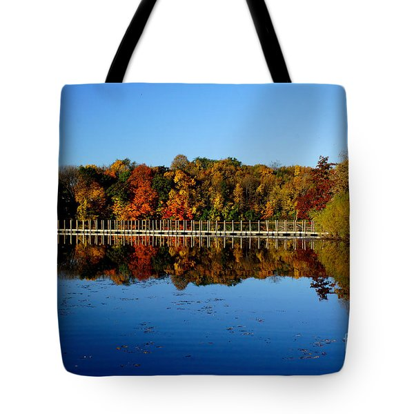 Refection Fall In Prior Lake Mn Tote Bag