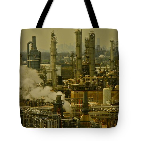 Refineries In Houston Texas Tote Bag by Kirsten Giving