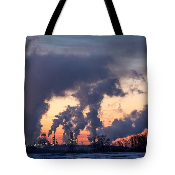 Tote Bag featuring the photograph Flint Hills Resources Pine Bend Refinery by Patti Deters