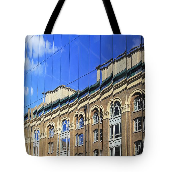 Reflected Building London Tote Bag