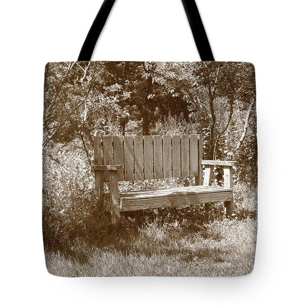 Reflecting Bench Tote Bag