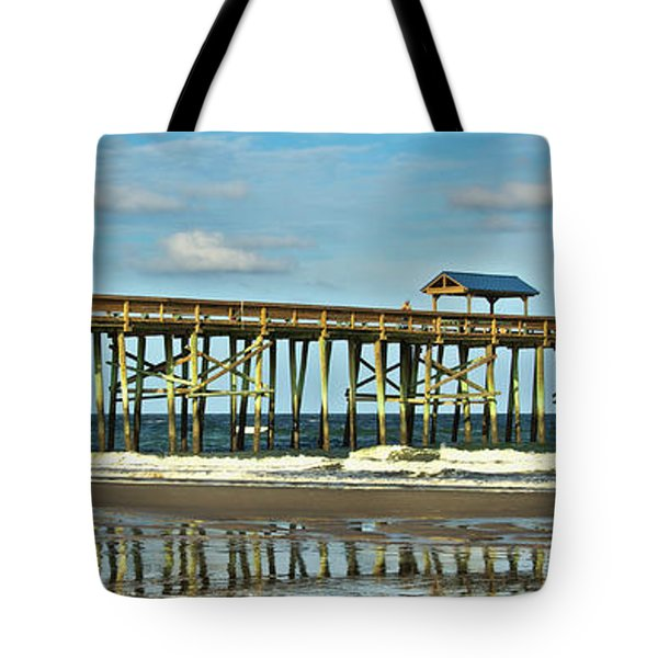 Reflection Pier Tote Bag by Paula Porterfield-Izzo