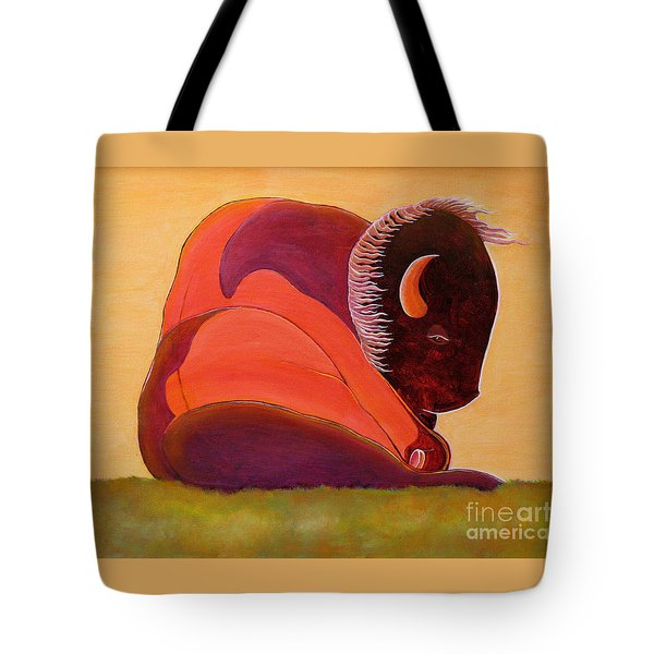 Reflecting Buffalo Tote Bag by Joseph J Stevens