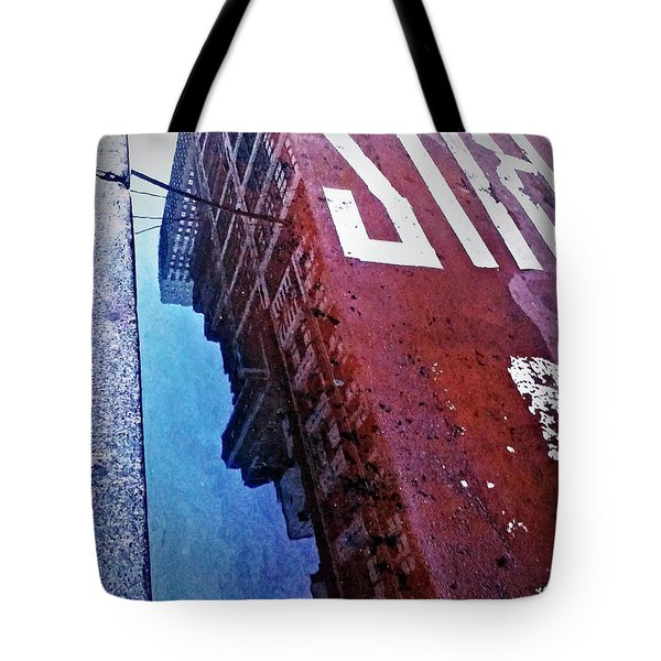 Reflecting On City Life Tote Bag by James Aiken