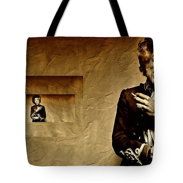 Reflecting On Jimi Hendrix  Tote Bag