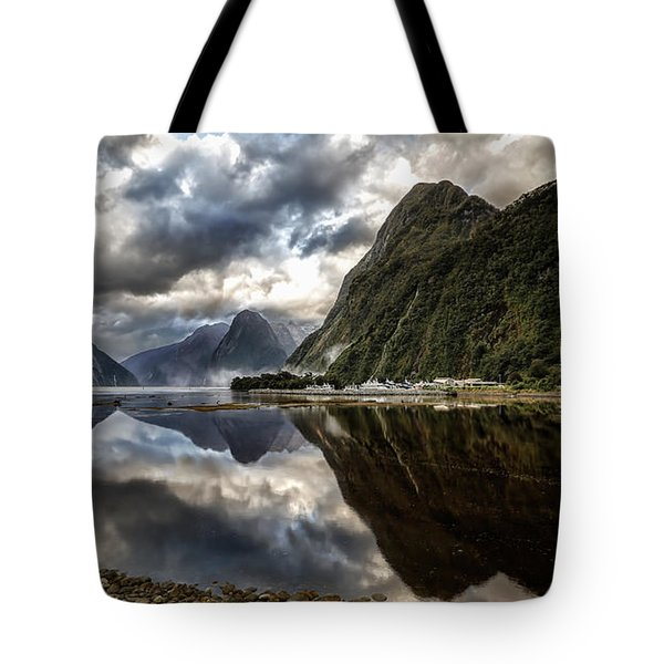 Reflecting On Milford Tote Bag
