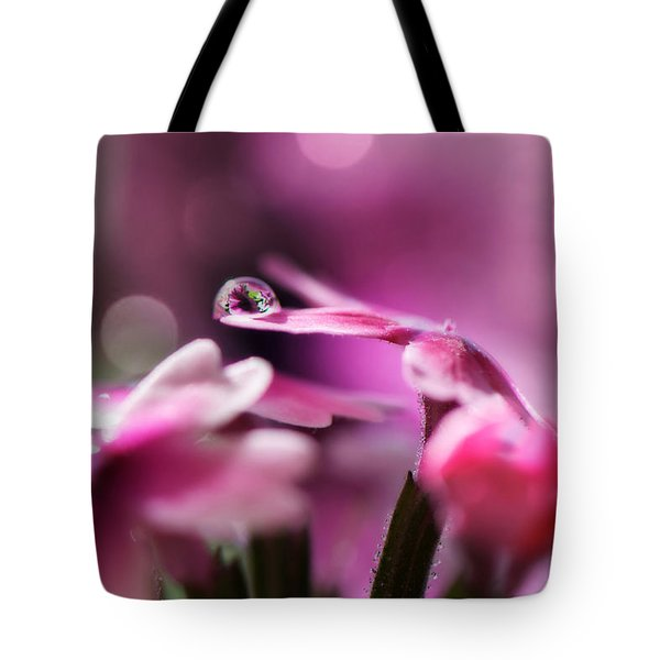 Reflecting On Pink Tote Bag