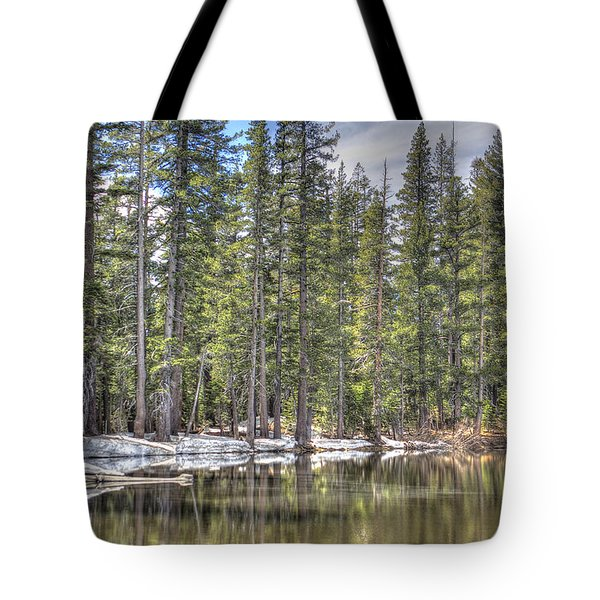 reflecting pond 4 Carson Spur Tote Bag