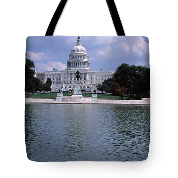 Reflecting Pool With A Government Tote Bag by Panoramic Images