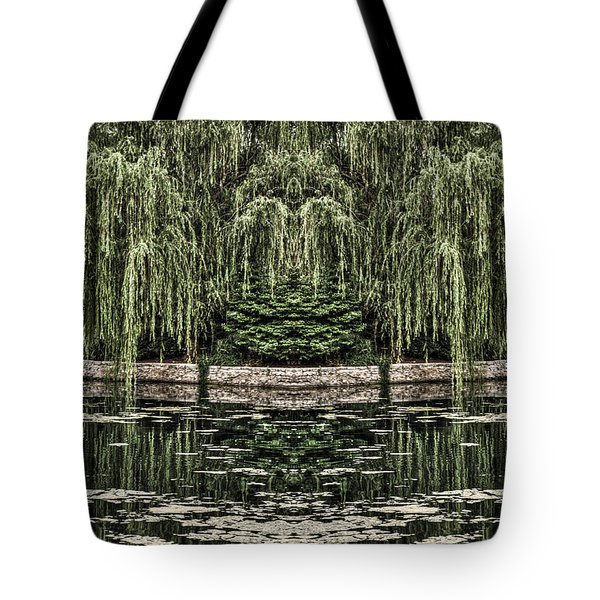 Tote Bag featuring the photograph Reflecting Willows by Rebecca Hiatt