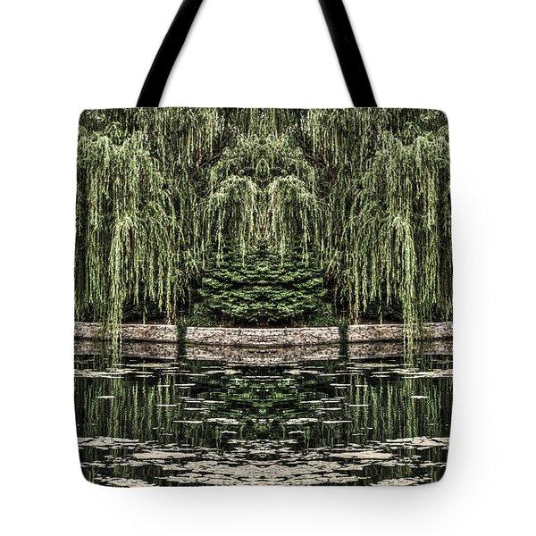 Reflecting Willows Tote Bag by Rebecca Hiatt