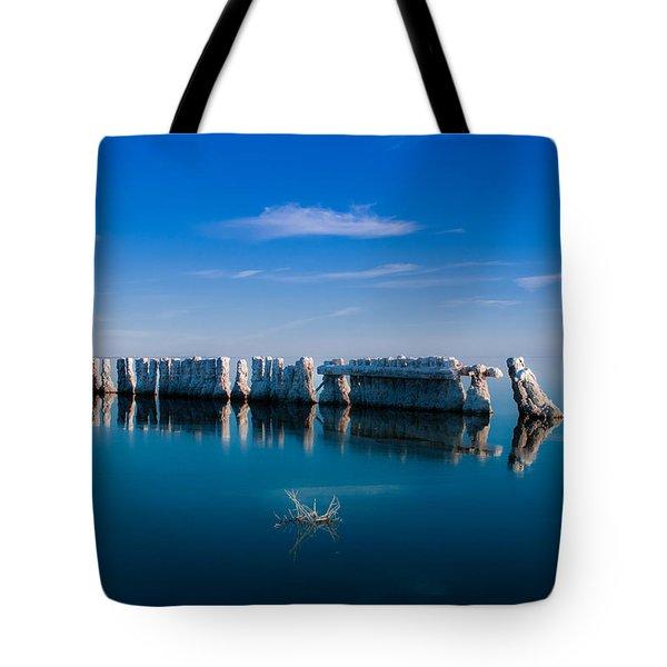 Reflection At Salton Sea Tote Bag