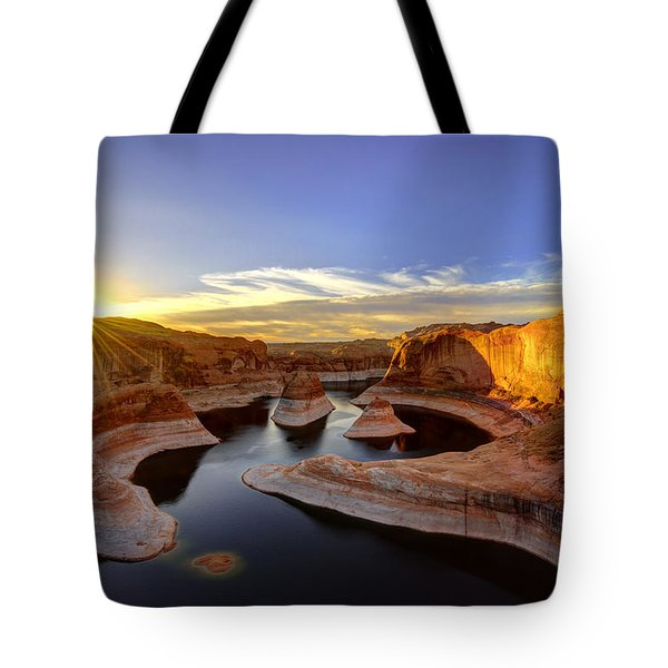 Reflection Canyon Sunrise Tote Bag