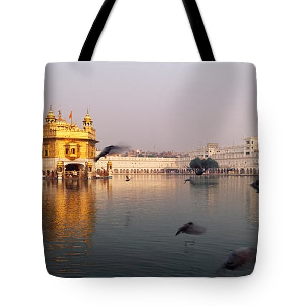 Reflection Of A Temple In A Lake Tote Bag