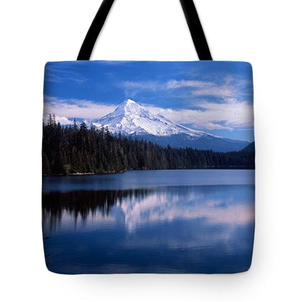 Reflection Of Clouds In Water, Mt Hood Tote Bag