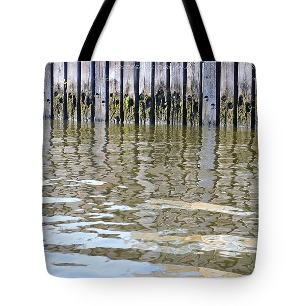 Reflection Of Fence  Tote Bag by Sonali Gangane