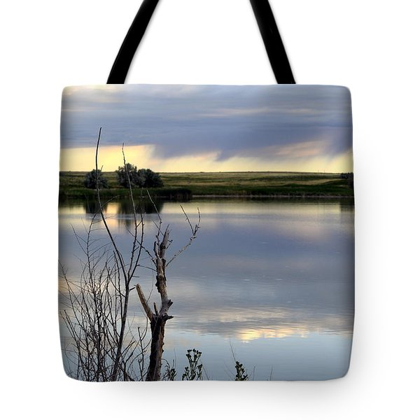 Reflection Of Morning Sky Tote Bag by Clarice  Lakota