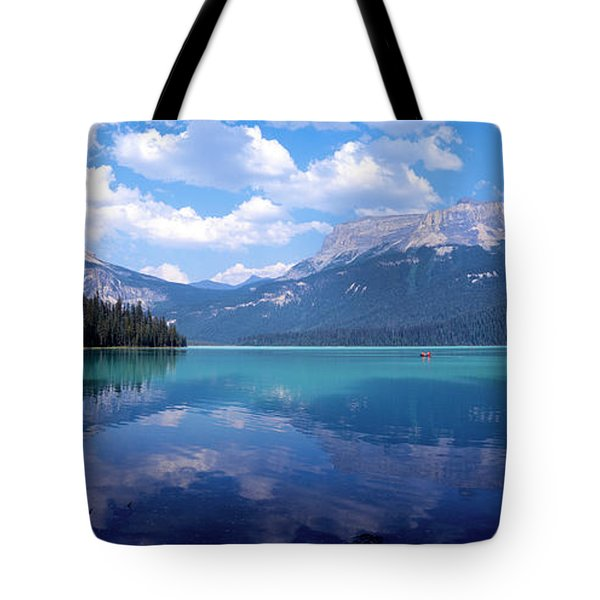 Reflection Of Mountain On Water Tote Bag