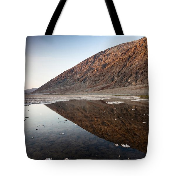 Reflection Of Rock On Water, Western Tote Bag