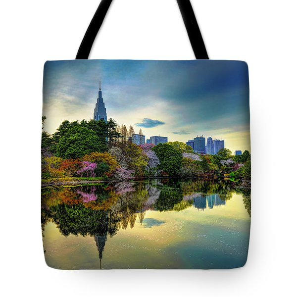 Reflection Of Spring Tote Bag