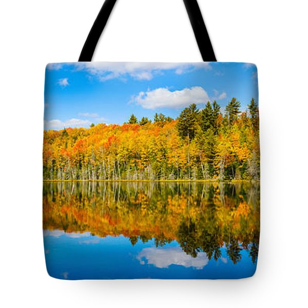 Reflection Of Trees In A Lake, Petes Tote Bag