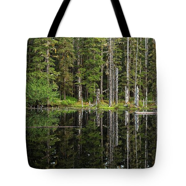 Reflection Of Trees In Kettle Pond Tote Bag