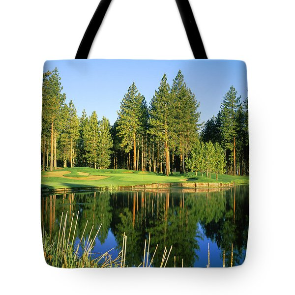 Reflection Of Trees On Water, Edgewood Tote Bag
