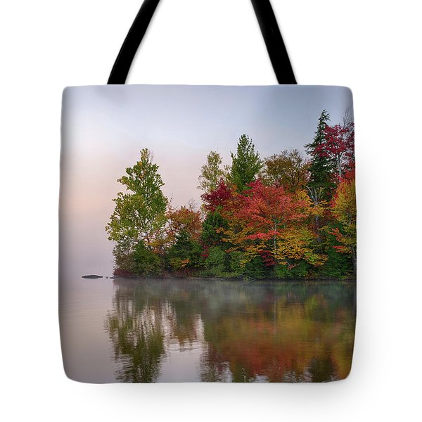 Reflection Of Trees On Water, Seventh Tote Bag