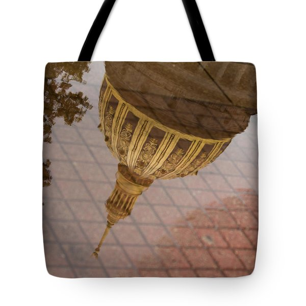 reflection of WV Tote Bag by Shane Holsclaw