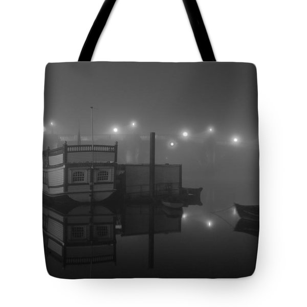 Reflection On Misty Thames  Tote Bag