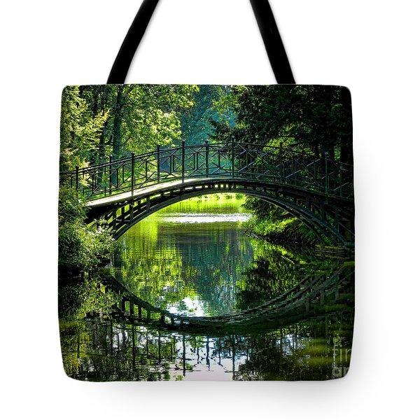 Reflection Paradise Tote Bag by Mariola Bitner