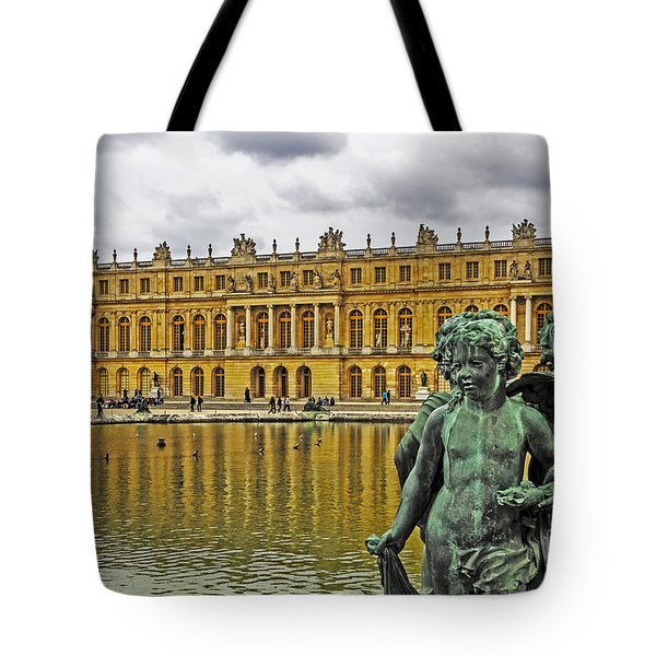 Reflection Pool Of Versailles Tote Bag