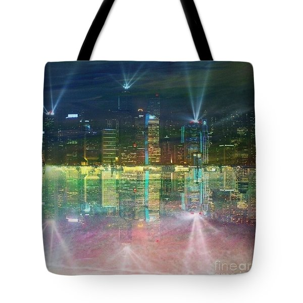 Reflection Water Skyline Tote Bag by PainterArtist FIN
