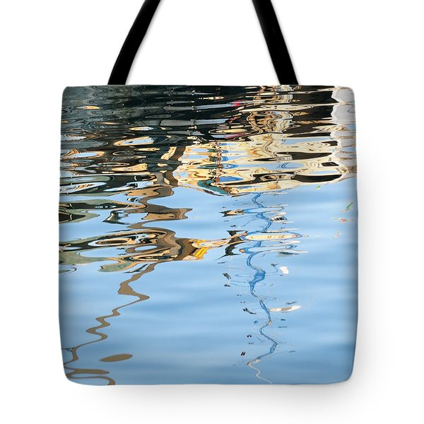 Tote Bag featuring the photograph Reflections - White by Susie Rieple