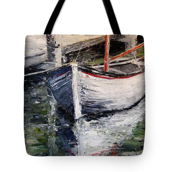 Tote Bag featuring the painting Reflections by Alan Lakin