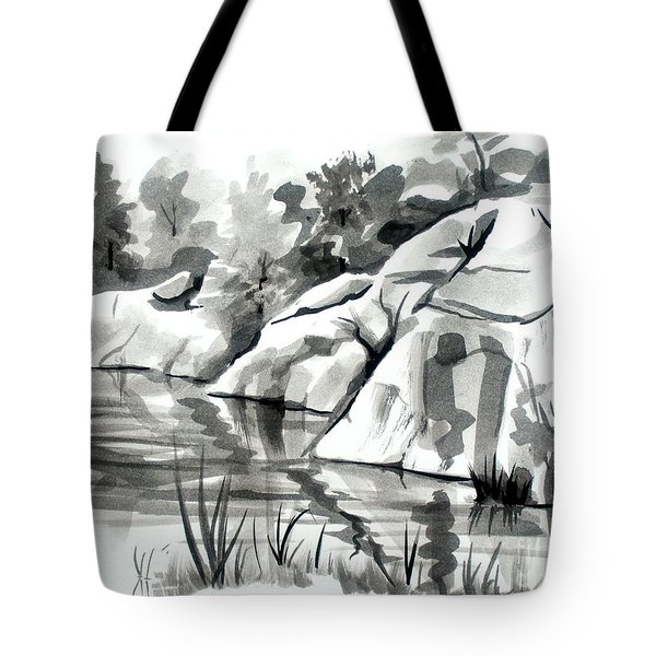 Reflections At Elephant Rocks State Park No I102 Tote Bag by Kip DeVore