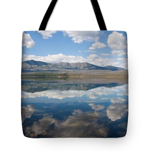 Reflections At Glacier National Park Tote Bag by John M Bailey